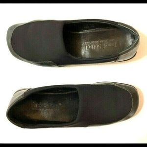 Josef Seibel 38 Black Leather Comfort Shoe Slip On